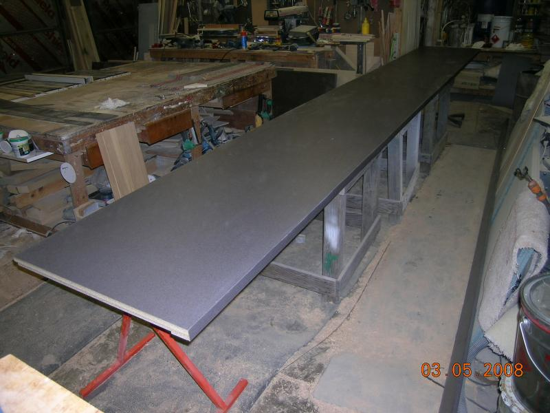 18 foot counter for Bloomer Chocolate Company.