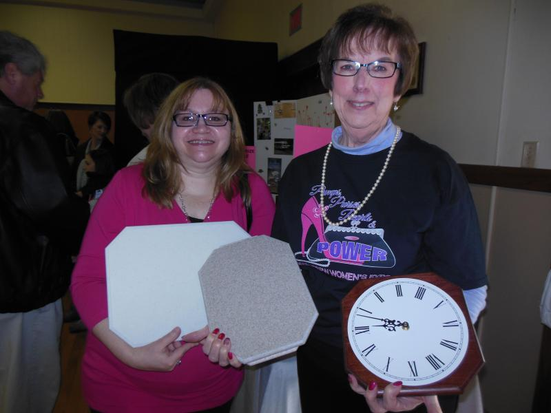 Margie Rodenberger & Joanne Hersh won our raffle items at the 6th UPBPW Expo